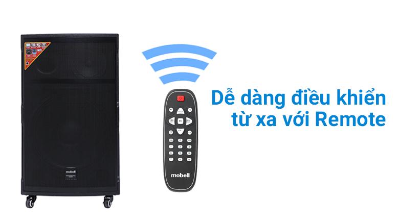 Remote theo kèm Loa kéo Karaoke Mobell K1501