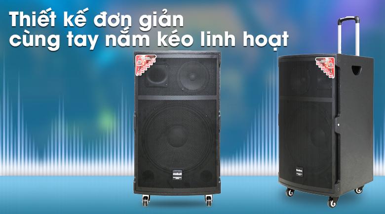 Loa kéo Karaoke Mobell K1501 800W - thiết kế