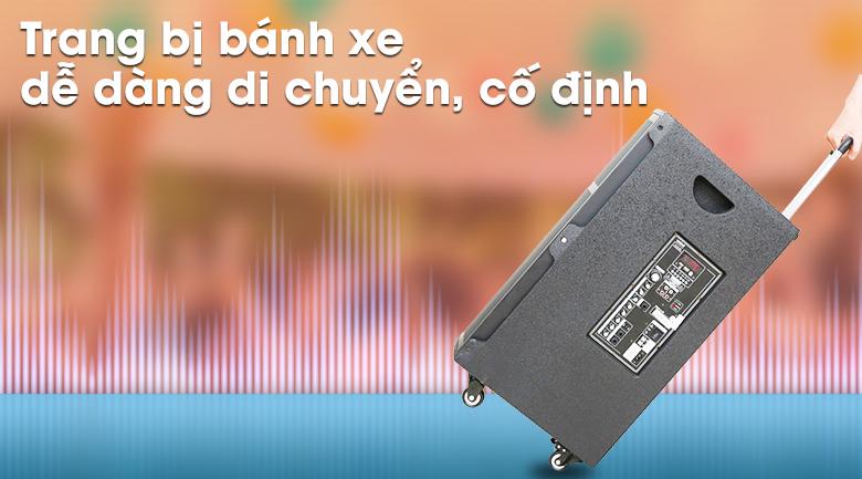 Loa kéo Karaoke Mobell K1501 800W - bánh xe