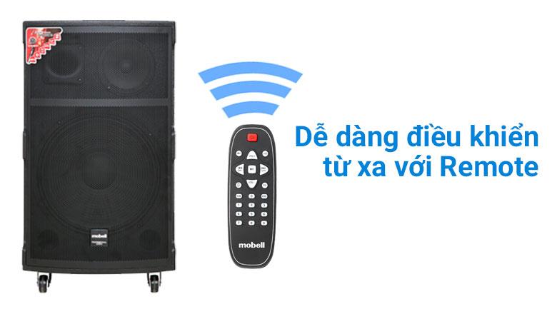Loa kéo Karaoke Mobell K1501 800W - remote
