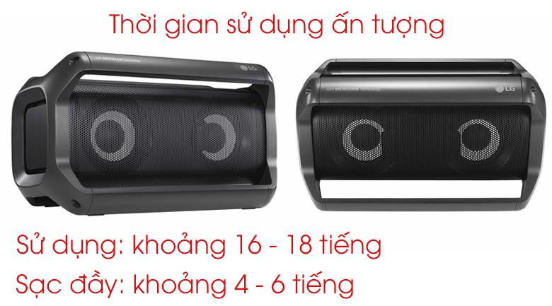 Thời gian sử dụng và sạc của Loa Bluetooth LG PK5