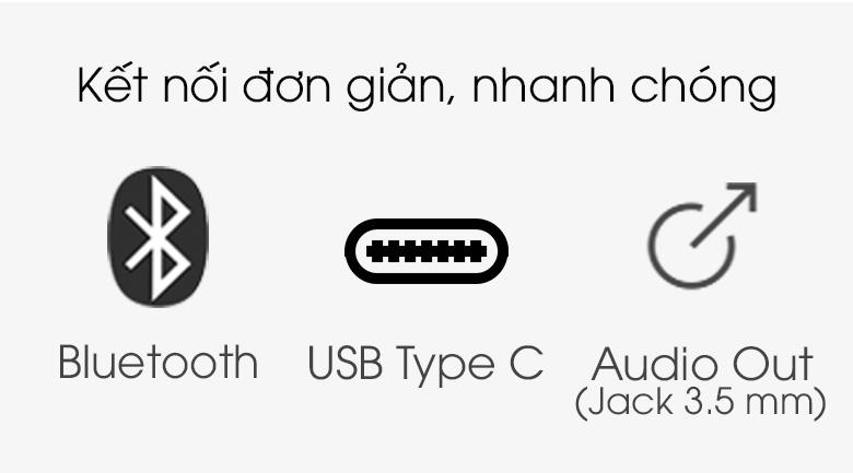 Các cổng kết nối của Loa Bluetooth LG PK5