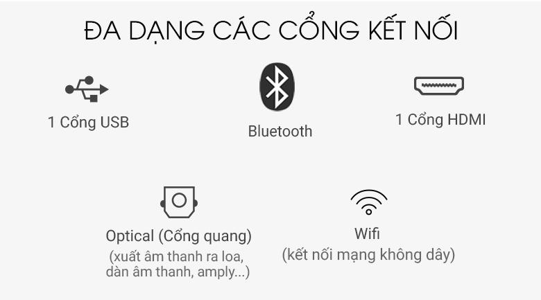 Hỗ trợ đa dạng kết nối trên Dàn âm thanh Sony BDV-E2100