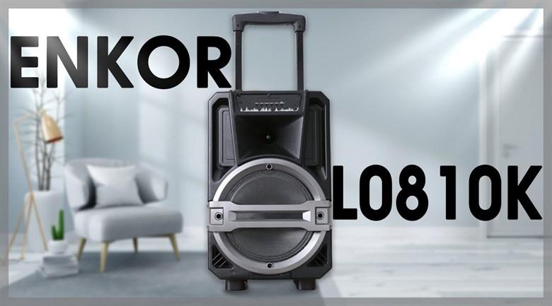 Loa Kéo Bluetooth Karaoke Enkor L0810K