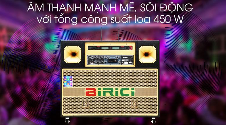 Loa điện Karaoke Birici MX-700 450W - Công suất 400 W