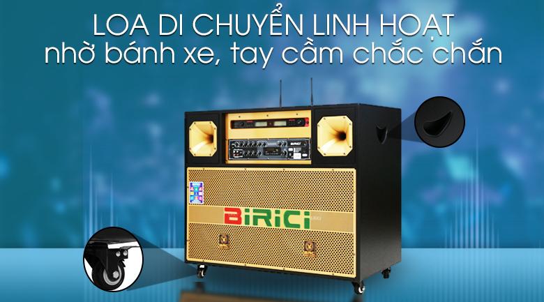 Loa điện Karaoke Birici MX-700 450W - Di chuyển linh hoạt