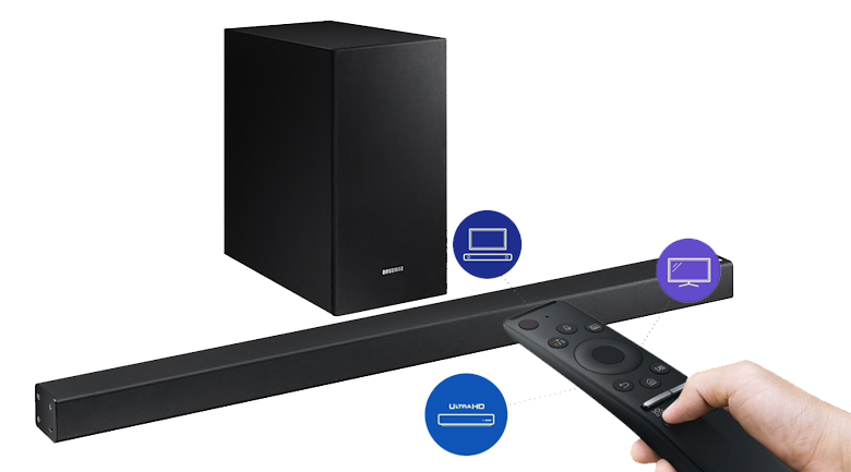 Loa thanh soundbar Samsung 2.1 HW-R450 200W - One Remote