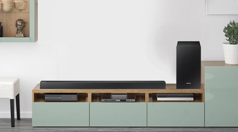 Loa thanh soundbar Samsung 2.1 HW-R450 200W - Thiết kế