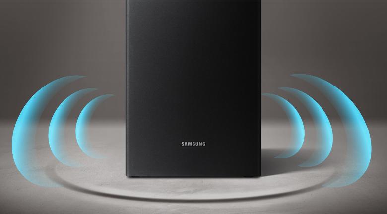 Loa thanh soundbar Samsung 2.1 HW-R450 200W - Công suất loa