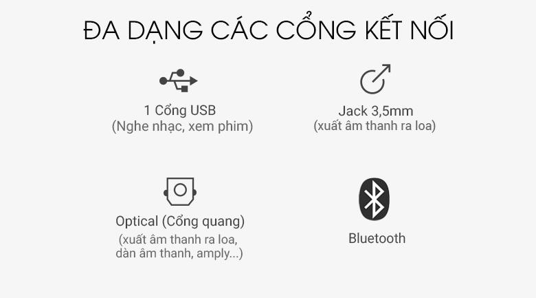 Loa thanh soundbar Samsung 2.1 HW-R550 320W - Cổng kết nối