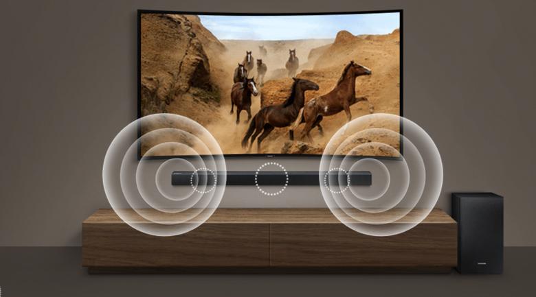 Loa thanh soundbar Samsung 2.1 HW-R550 320W - Công suất 320W