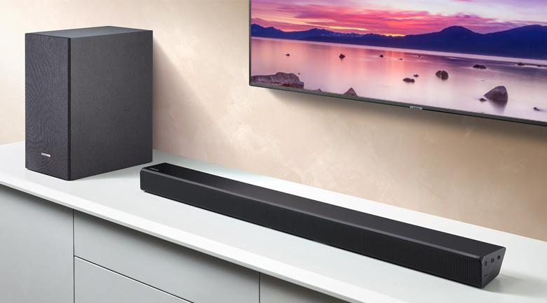 Loa thanh soundbar Samsung 2.1 HW-R550 320W - Thiết kế