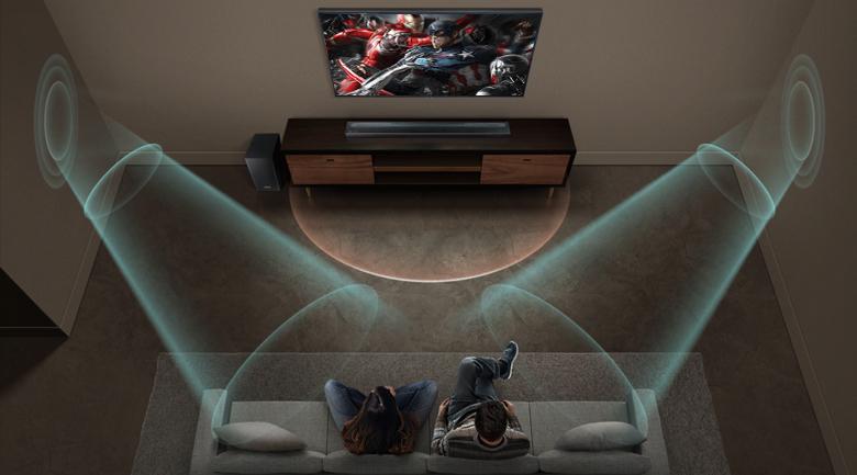 Loa thanh soundbar Samsung 5.1 HW-Q60R - Công nghệ âm thanh vòm