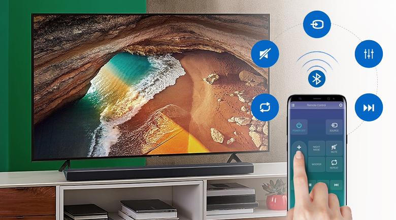 Loa thanh soundbar Samsung 5.1 HW-Q60R - Điều khiển loa thanh bằng điện thoại