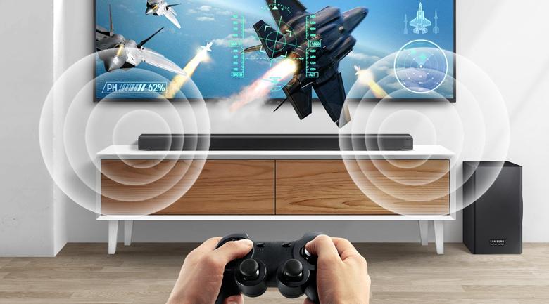 Loa thanh soundbar Samsung 3.1.2 HW-Q70R 330W - Chế độ Game chuyên nghiệp