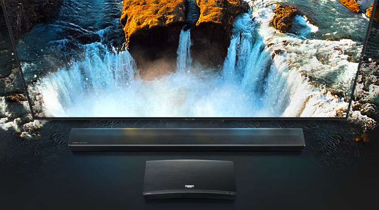 Loa thanh soundbar Samsung 3.1.2 HW-Q70R 330W - 4K Pass-Through