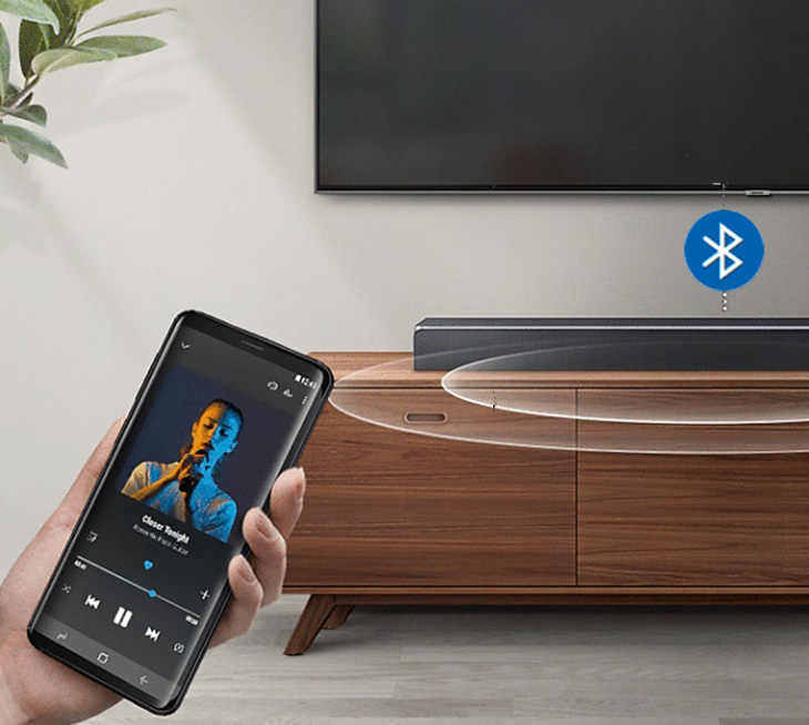 Kết nối với tivi, máy tính bảng, điện thoại... qua Bluetooth không cần dây cáp vướng víu