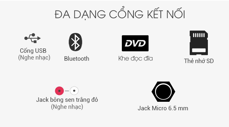 Loa Karaoke LG OL55D 600W - Cổng kết nối