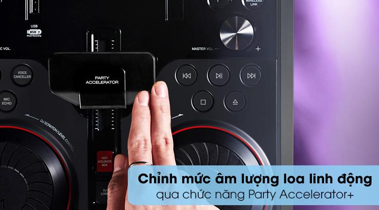 Loa Karaoke LG OL55D 600W - Chức năng Party Accelerator