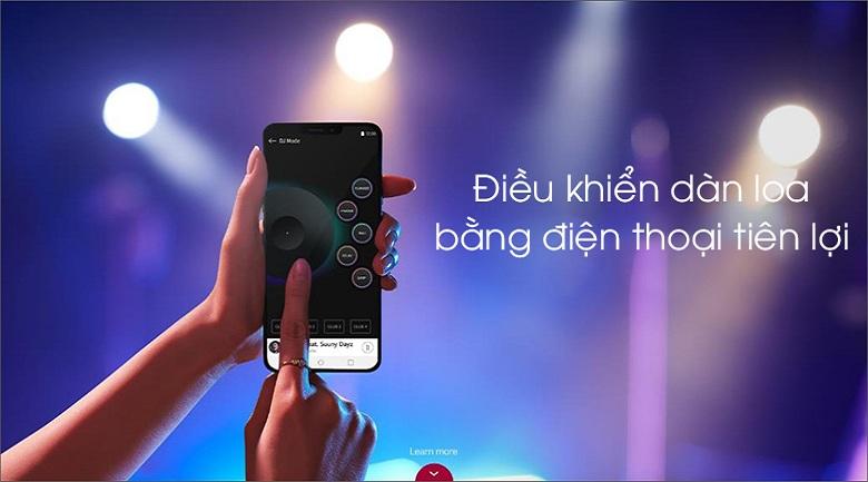 Loa Karaoke LG OL55D 600W - Điều khiển loa bằng điện thoại