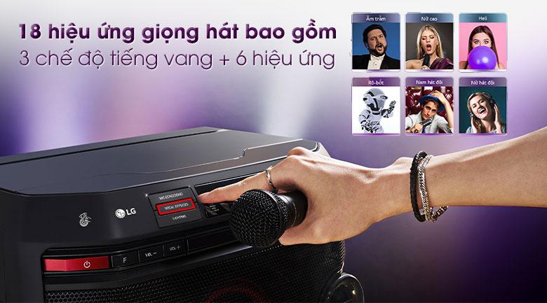 Loa karaoke LG OL45 220W - Hiệu ứng 18 giọng hát khác nhau