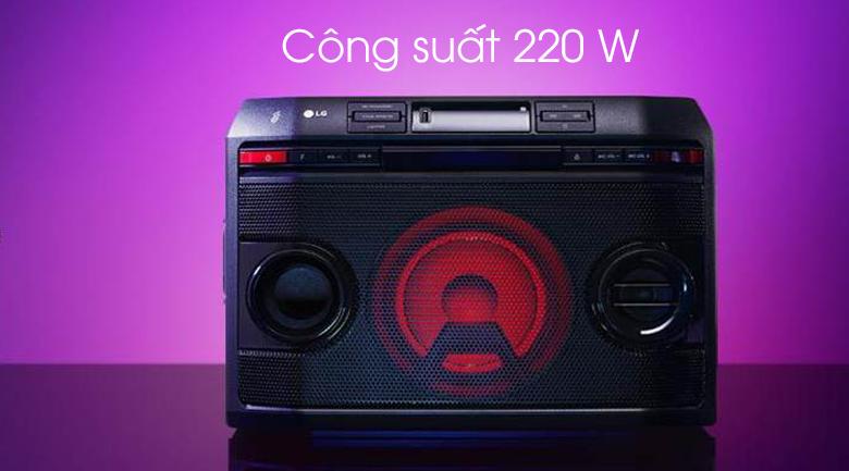 Loa karaoke LG OL45 220W - Công suất