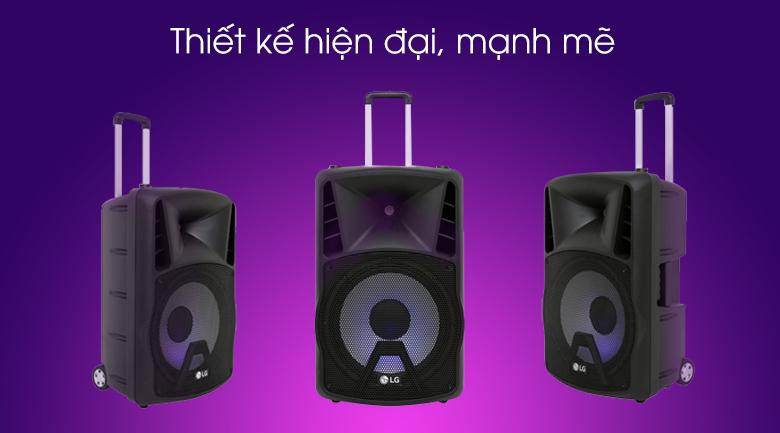 Loa kéo karaoke LG RK4 80W - Thiết kế