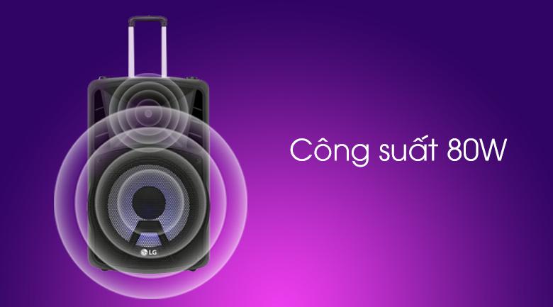 Loa kéo karaoke LG RK4 80W - Công suất