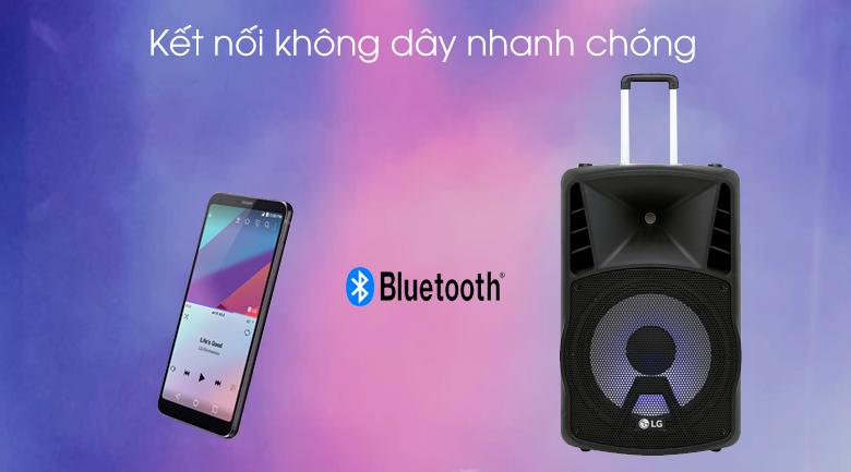 Loa kéo karaoke LG RK4 80W - Kết nối Bluetooth