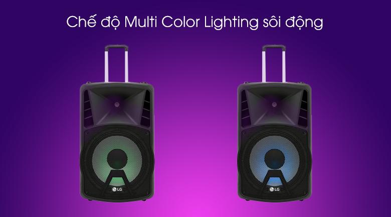 Loa kéo karaoke LG RK4 80W - Trang bị đèn led