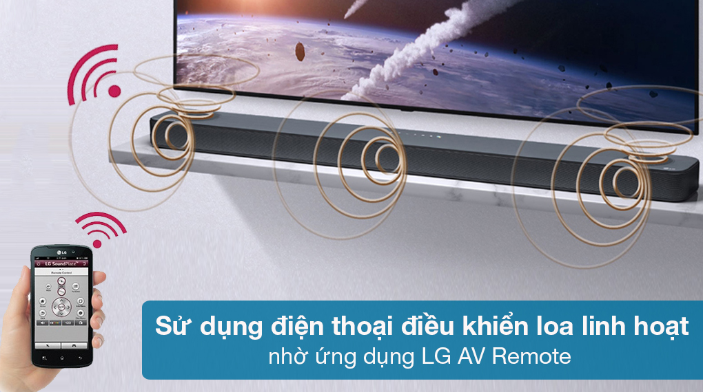Loa thanh soundbar LG 3.1.2 SL8Y - Sử dụng ứng dụng LG AV Remote