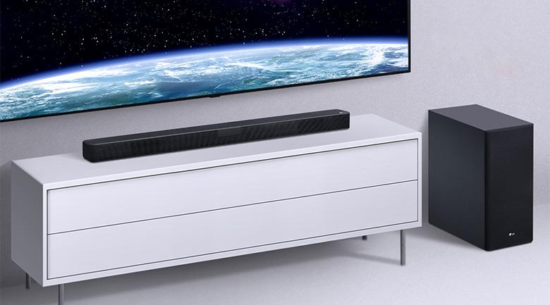 Kiểu dáng hiện đại, kết cấu cứng cáp - Dàn âm thanh LG 4.1 SL5R 520W