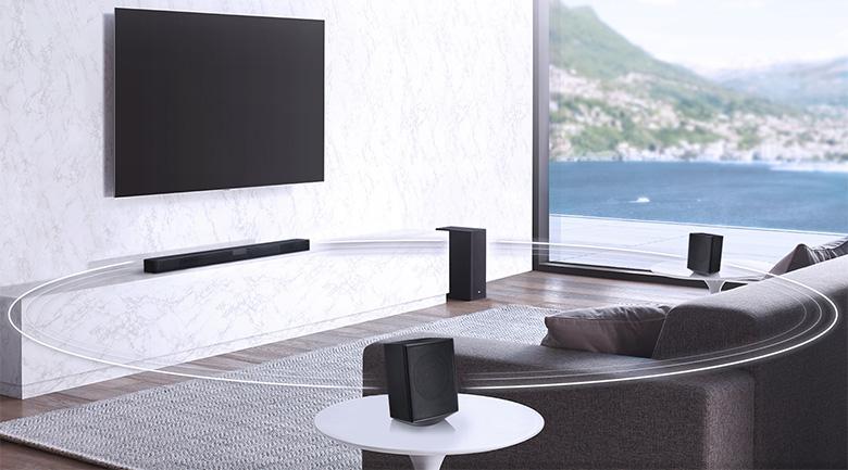 Âm thanh vòm đa chiều có sức lan tỏa mạnh mẽ - Dàn âm thanh LG 4.1 SL5R 520W