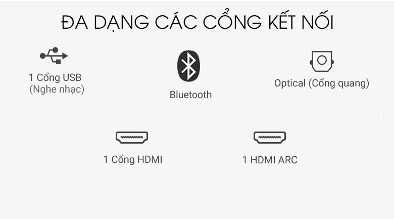 Hỗ trợ cổng kết nối phổ biến, đa dạng - Dàn âm thanh LG 4.1 SL5R 520W