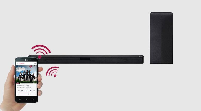 Điều khiển chức năng loa tiện lợi qua điện thoại thông qua ứng dụng Music Flow Bluetooth hiện đại