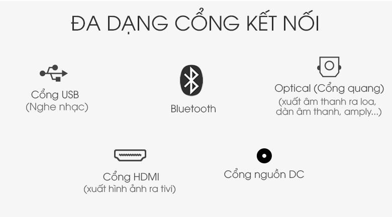 Nhiều cổng kết nối thông dụng - Loa thanh soundbar LG 2.1 SL4 300W