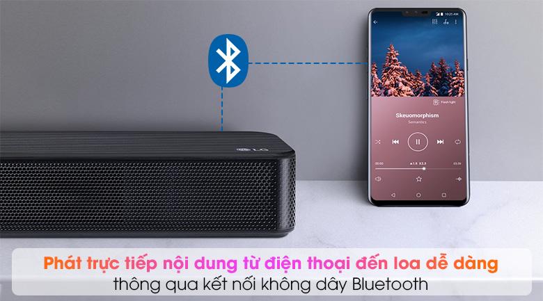 Loa thanh soundbar LG 2.1 SL4 300W - Kết nối không dây Bluetooth