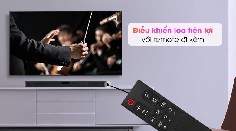 Loa thanh soundbar LG 2.1 SL4 300W - Trang bị remote điều khiển từ xa