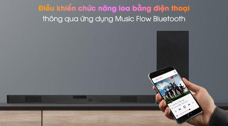 Loa thanh soundbar LG 2.1 SL4 300W - Điều khiển qua ứng dụng Music Flow Bluetooth