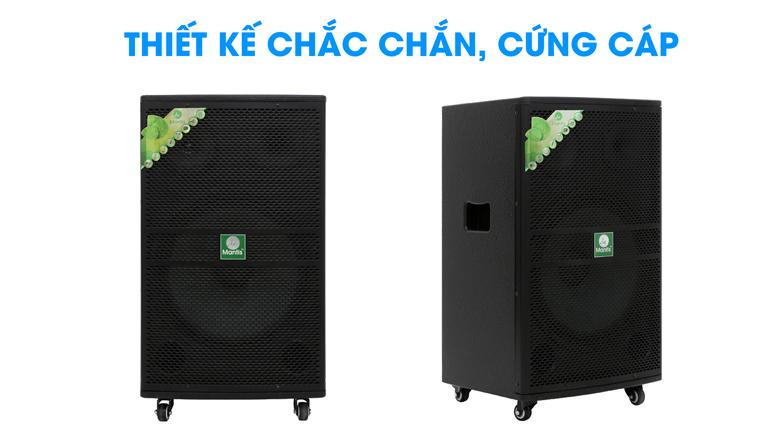 Loa kéo karaoke Mantis MT15-ST1 600W - Thiết kế chắc chắn