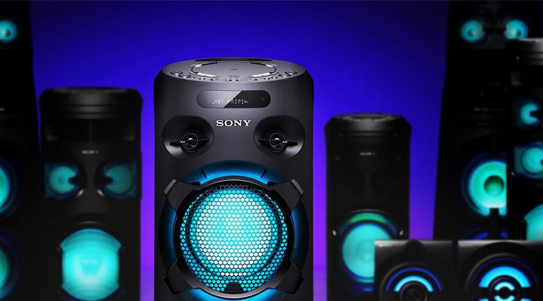 Dàn âm thanh Hifi Sony MHC-V02 - Chế độ đèn chớp Party