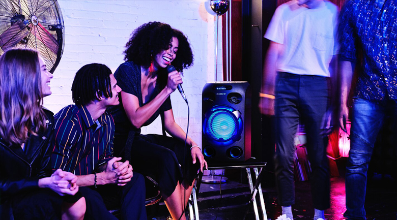 Dàn âm thanh Hifi Sony MHC-V02 - Hát karaoke