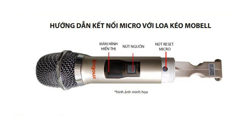 Hướng dẫn kết nối micro với loa kéo Karaoke Mobell K1507 1000W
