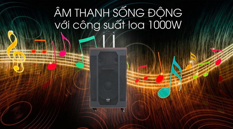 Loa kéo Karaoke Mobell K1507 1000W - Âm thanh mạnh mẽ