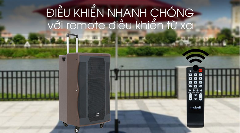 Loa kéo Karaoke Mobell K1507 1000W - Remote điều khiển từ xa