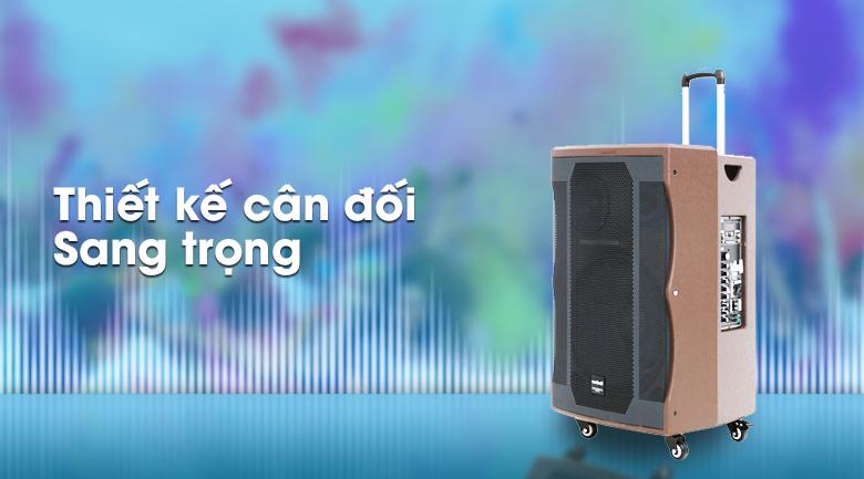 Loa kéo Karaoke Mobell K1507 1000W - Thiết kế