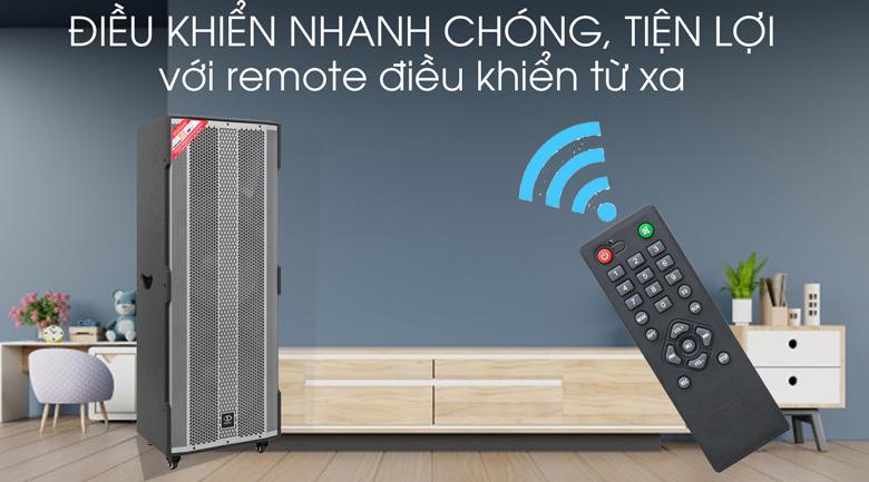 Loa Điện Karaoke Dalton TS-15A2500 1600W - Remote điều khiển từ xa