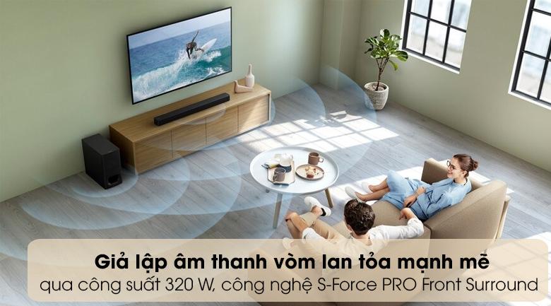 Loa thanh soundbar Sony 2.1 HT-S350 320W - Âm thanh lôi cuốn, loa toả