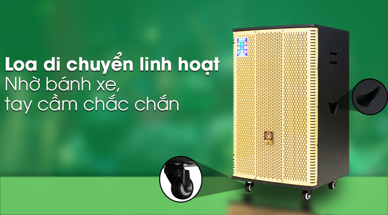 Loa Điện Karaoke Birici MX-900 560W - Di chuyển tiện lợi
