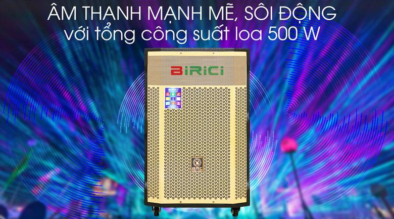 Loa Kéo Karaoke Birici MX-1000 500W - Công suất